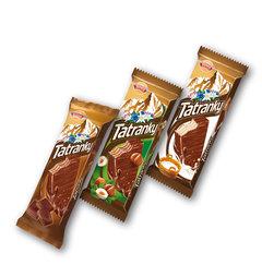 Tatranky celomáčené čokoládové, lískooříškové, mléčné