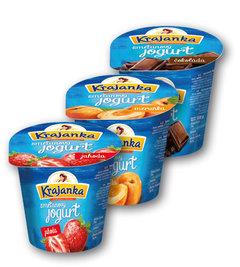 Krajanka jogurtový smetanový jahoda, meruňka, čokoláda
