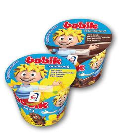 Bobík smetanový krém 14% vanilkový, čokoládový