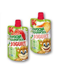 Kubík kapsička jahoda + jogurt, broskev + jogurt