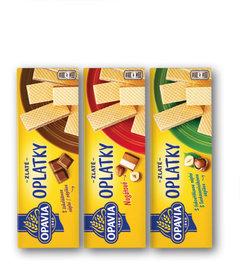 Zlaté Oplatky čokoládové, nugátové, lískooříškové