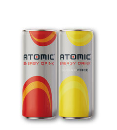 Atomic energy drink, drink NO SUGAR