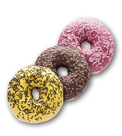 Donut banánový, čokoládový donut, pinky