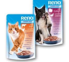 Reno kapsa pro kočky hovězí+drůbeží, pro psy krůtí+kachní