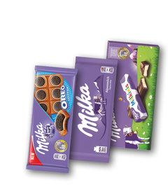 Milka Oreo Sandwich, čokoláda mléčná, Milkinis čokoláda