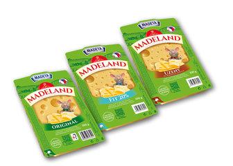 Madeland 45% plátky, Fitness 20% plátky, uzený 44% plátky