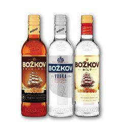 Božkov Originál 37,5%, Vodka 37,5%, Bílý 30%