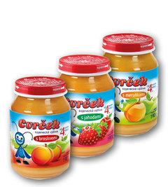 Cvrček kojenecká výživa broskev, jahoda, meruňka