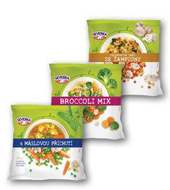 Severka máslová, broccoli mix, se žampiony