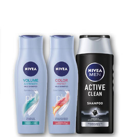 Nivea šampon Color care, Volume care, Active clean men