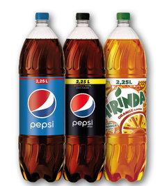 Pepsi, Pepsi bez kalorií, Mirinda, 7UP, Mountain Dew