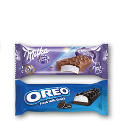 Milka Choco Snack, Oreo Fresh Milk-Snack
