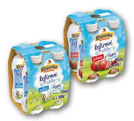 Krajanka kefírové mléko natur, jahoda