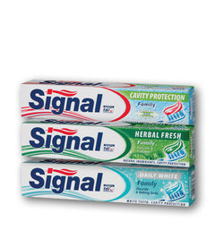 Zubní pasta signal family cavity protection, herbal fresh, daily white