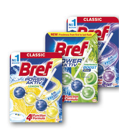 BREF Power Aktiv Lemon, Power Aktiv Pine, Aktiv Lavender