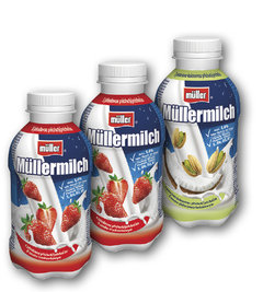 Müllermilch 1,5% cookies, jahoda, pistácie-kokos