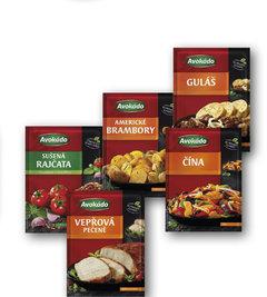 Sušená rajčata s česnekem a bazalkou, Vepřová pečeně, Čína, Americké brambory, Guláš