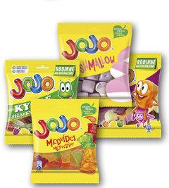 Jojo medvídci, kyselé žížalky, vexta, marshmallow