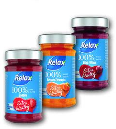 Relax 100% džem extra hladký jahoda, broskev, višeň