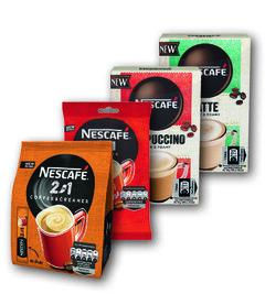 Nescafé 2in1, 3in1, Capuccino, Latte