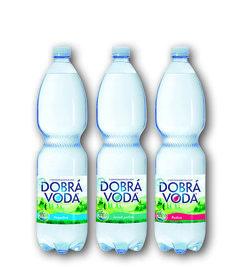 Dobrá voda přírodní neperlivá, jemně perlivá, perlivá