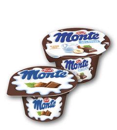 Monte lahodný mléčný dezert, Monte o 30 % méně cukru