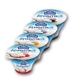 Kunín Athentikos jogurt na jahodách, meruňkách, borůvkách, čokoládě
