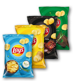 Lays Fromage, Salted, Barbecue Ribs, Spring Onion