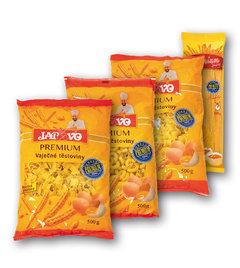 Široké nudle vaječné, Kolínka malá vaječná, Fleky lomené vaječné, Špagety vaječné