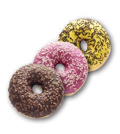 Donut čokoládový, pinky, banánový